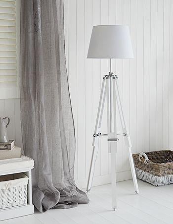 White Lexington floor lamp with chrome | ALMACEN BOBBER | Pinterest ...