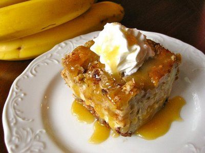 Rum, Caramel, And Banana Bread Pudding Recipe — Dishmaps