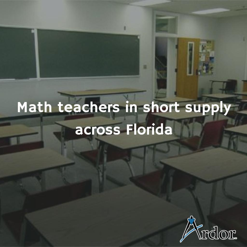 Math teachers in short supply across Florida Math