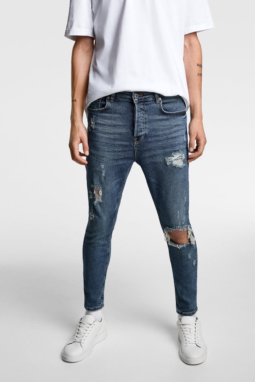 الضوضاء تعيس مقاطعة Jeans Super Skinny Hombre Rotos Ffigh Org