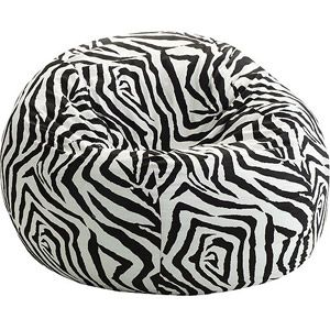 Zebra Print Bean Bag Chair Black Covers To Hire Small 3 Fuf Multiple Prints Children S Furniture