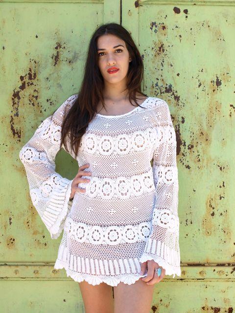 Free Pattern One Hour Diy Crochet Lace Wedding Dress Sewing