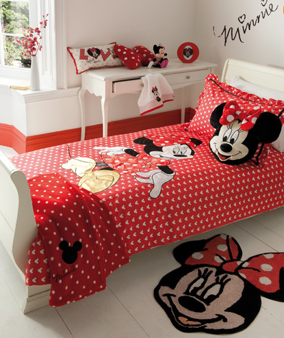 Minnie Mouse Bedroom | Tayler | Kinderschlafzimmer, Schlafzimmer ...
