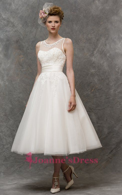 Trendy Crew Tea Length Princess Dress For A Wedding Belfast