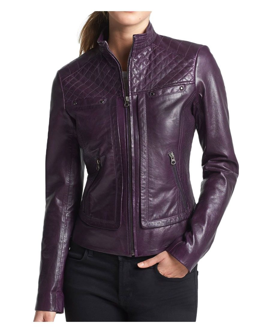 Quilted Design Biker Womens Purple Leather Jacket Ujackets Purple Leather Jacket Jackets For Women Leather Jackets Women [ 1110 x 870 Pixel ]