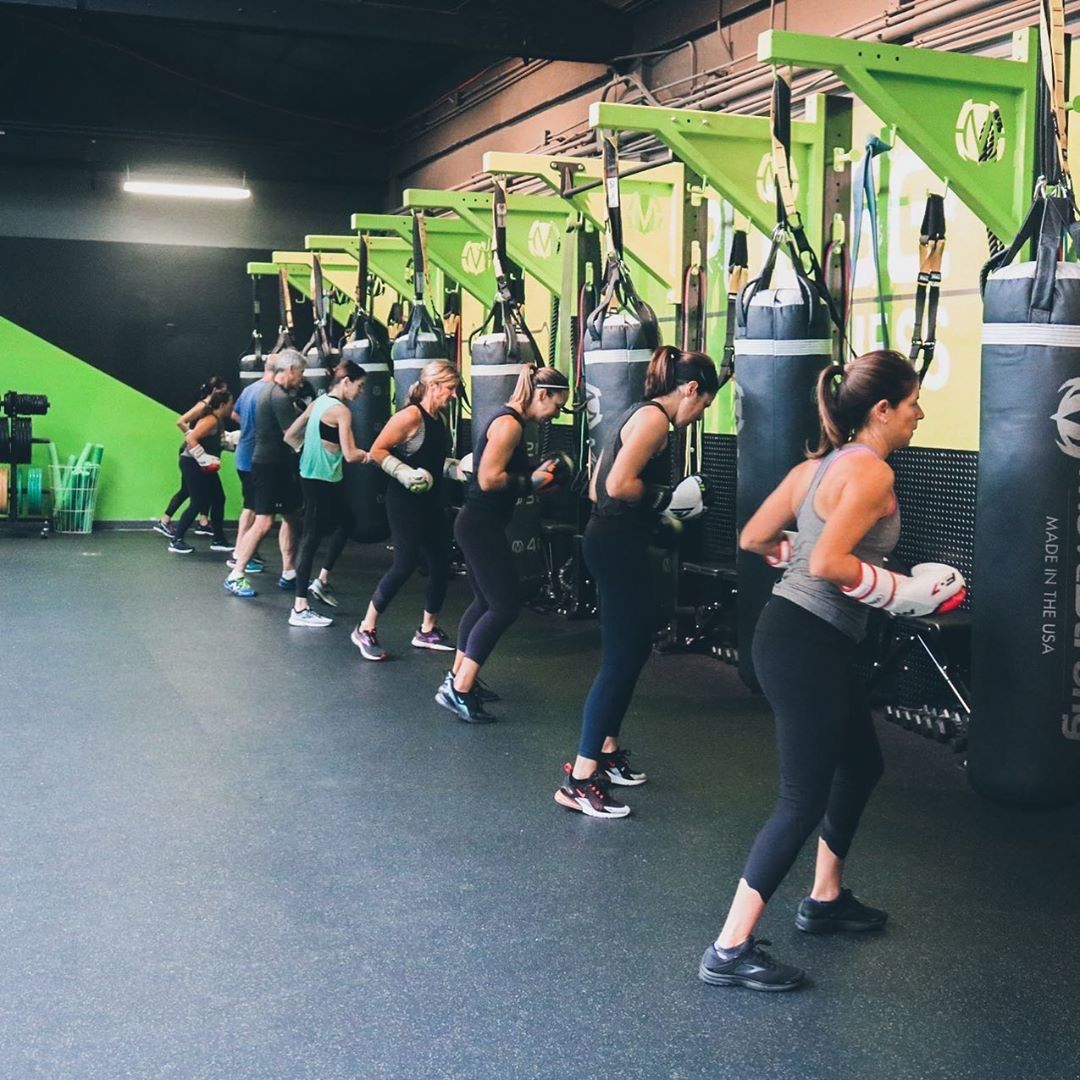 Boxing And Hiit Classes With Movestrong Columns Fitness Studio Fitness Design Boxing Gym Design