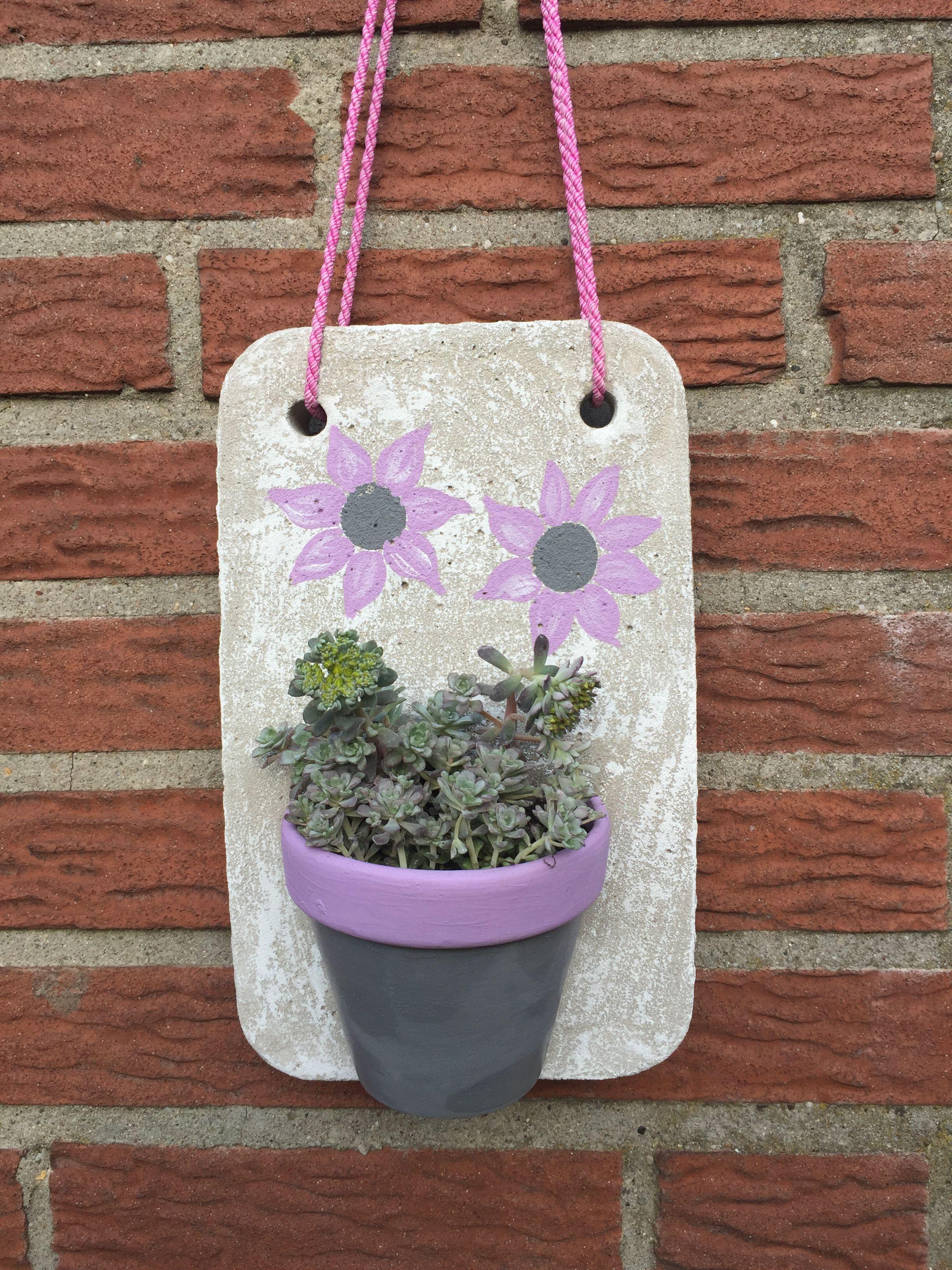 schöne gartendekoration aus beton mit sukulente bepflanzt | beton, Gartenarbeit ideen