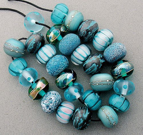 Items similar to DSG-Debbie Sanders Glass Handmade Lampwork Beads (Made To Order) Winter Aqua on Etsy