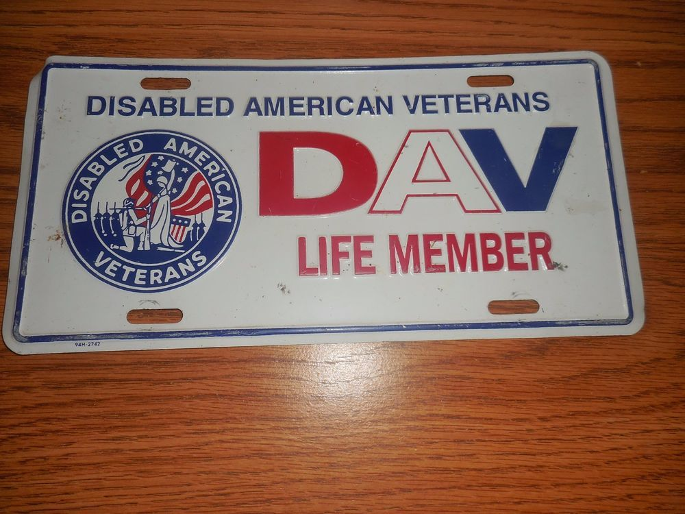 EXPIRED Disabled American Veterans License Plate DAV Life