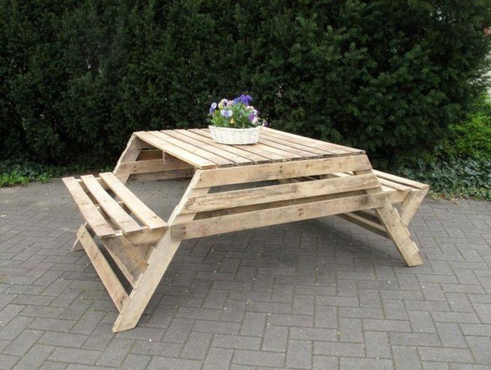 18 Kreative Ideen Fur Gartentische Ziehen Wir Endlich Nach Draussen Gartentisch Tische Im Freien Picknicktisch