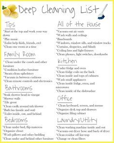 Spring Deep Cleaning Checklist Deep Cleaning Deep Cleaning