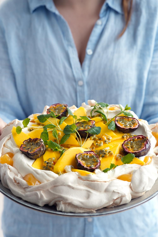 pavlova lemon curd recept