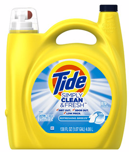 Walmart Com Tide Simply Clean Fresh Laundry Detergent 89 Loads