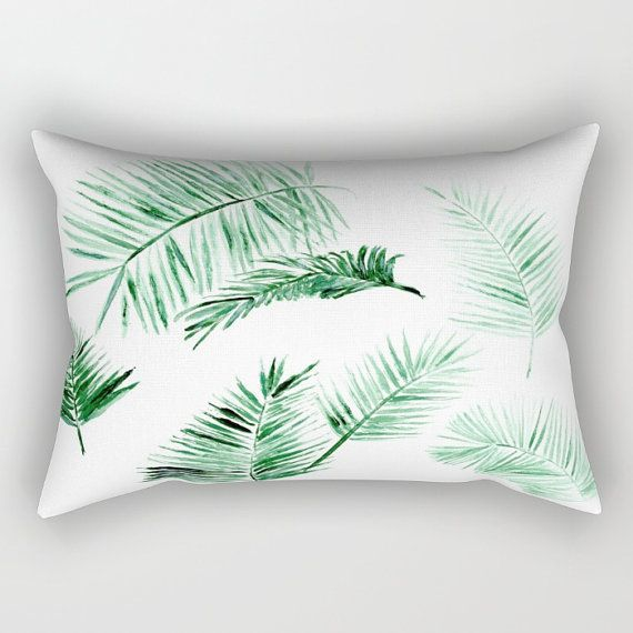 Pleasing Palm Leaf Throw Pillow Palm Leaf Lumbar Palm Lumbar By Ocoug Best Dining Table And Chair Ideas Images Ocougorg