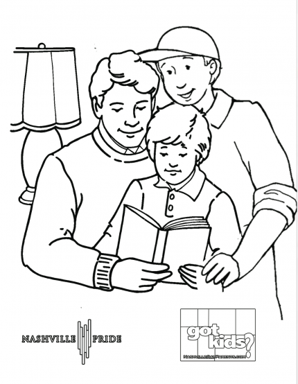 lgbt family coloring page