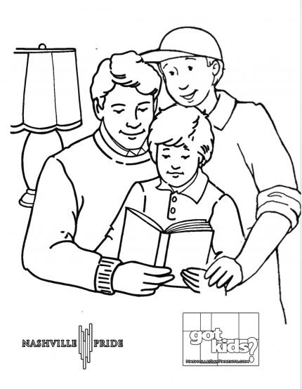 Family Coloring Sheet Taken