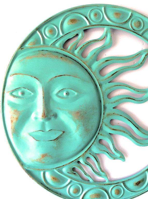 Garden Decor Metal Sun Sun Wall Art Outdoor Wall by honeywoodhome ...
