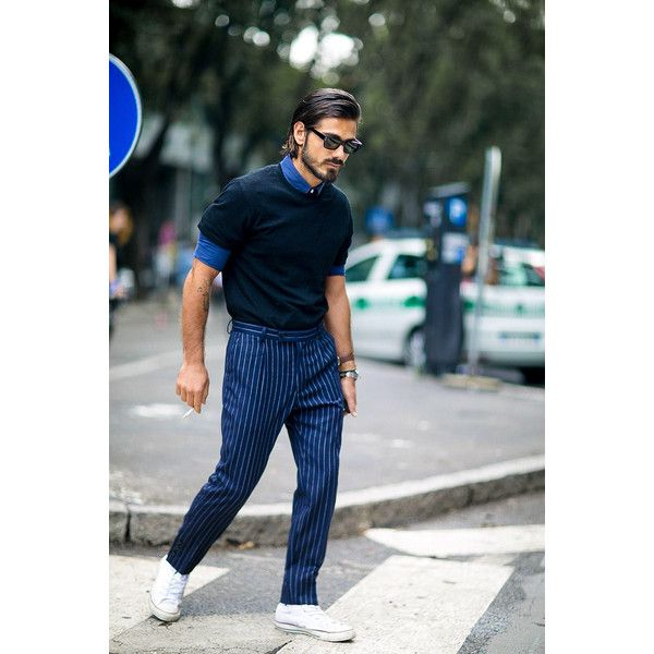 The Best Street Style at Milan Menswear Fashion Week found on Polyvore featuring men's fashion