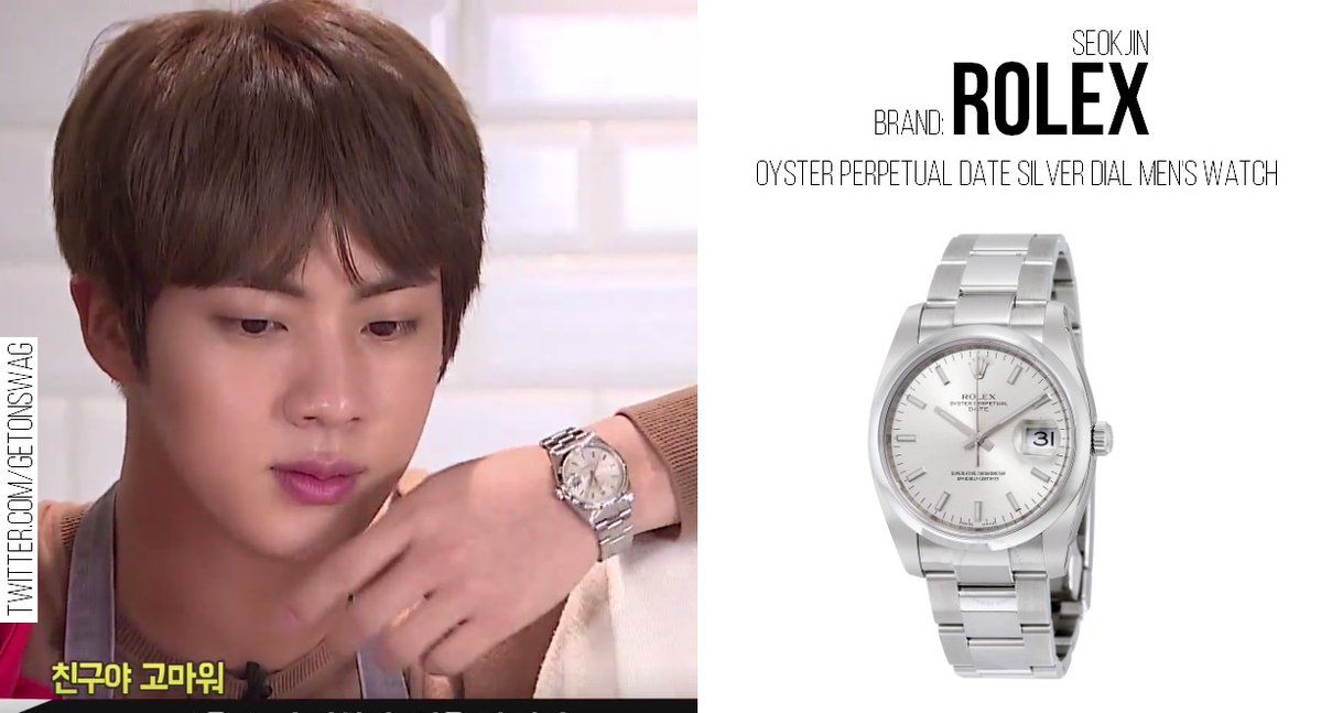 Rolex Oyster Perpetual Date Silver Dial Watch Rolex Oyster Perpetual Date 34 Silver Dial Stainless Steel Rolex O Bts Clothing Korean Fashion Men Taehyung Gucci