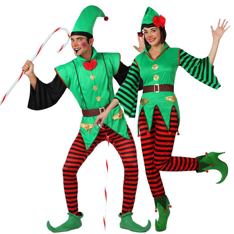 pareja elfos de navidad