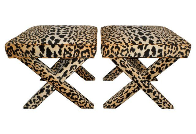Leopard X Benches S 2 X Bench Vintage Decor Furniture