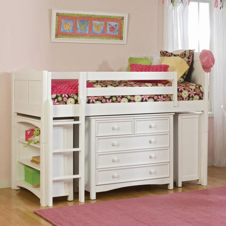 Best Low Loft Bed For Kid Made Of Wooden In White Finished 400 x 300