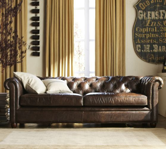 Chesterfield Leather Sofa Http Www Potterybarn Com Products