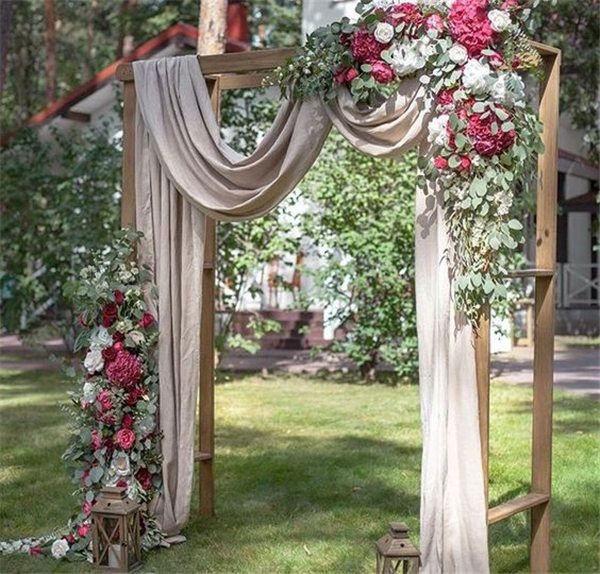 20 DIY Floral Wedding Arch Decoration Ideas | Arbors, Backdrops and ...