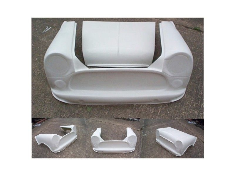 61749333d19 Classic Mini 2-piece Fiberglass Front End - Extended 3.5 For Vtec ...