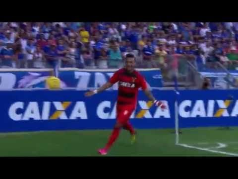 segundo gol de Rogerio cruzeiro 0x2 sport brasileirao 2016