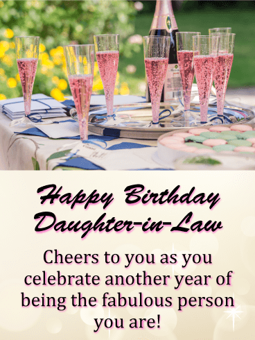 Cheers To You Happy Birthday Card For Daughter In Law Birthday Greeting Cards By Davia Happy Birthday Daughter Birthday Daughter In Law Birthday Greeting Cards