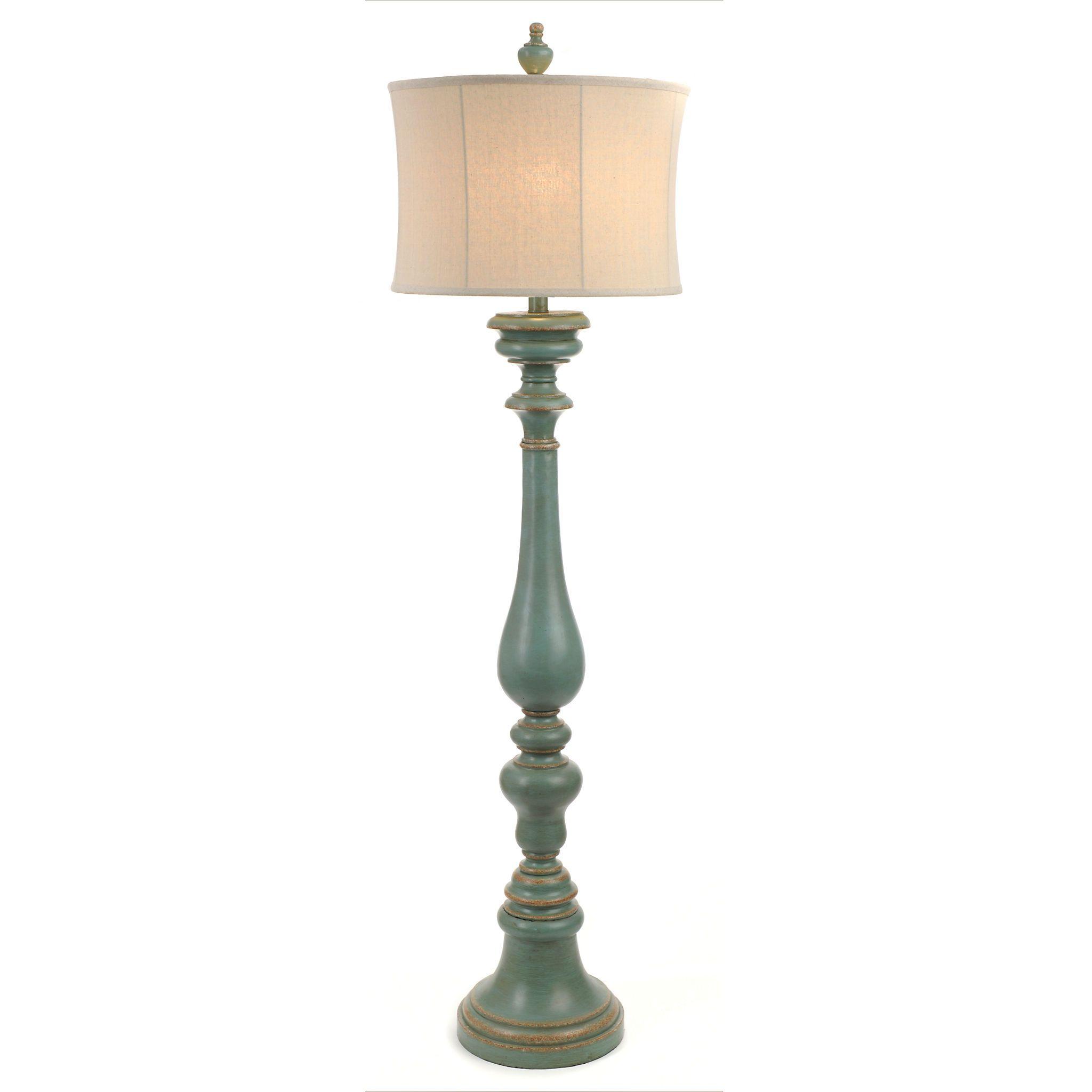 Burks Turquoise Floor Lamp Floor lamp, Coastal
