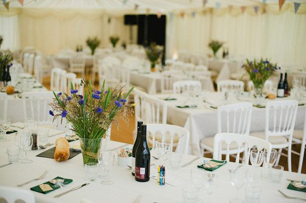 Wiz And Jeremy An English Garden Party Wedding With Bunting Sweet Peas A