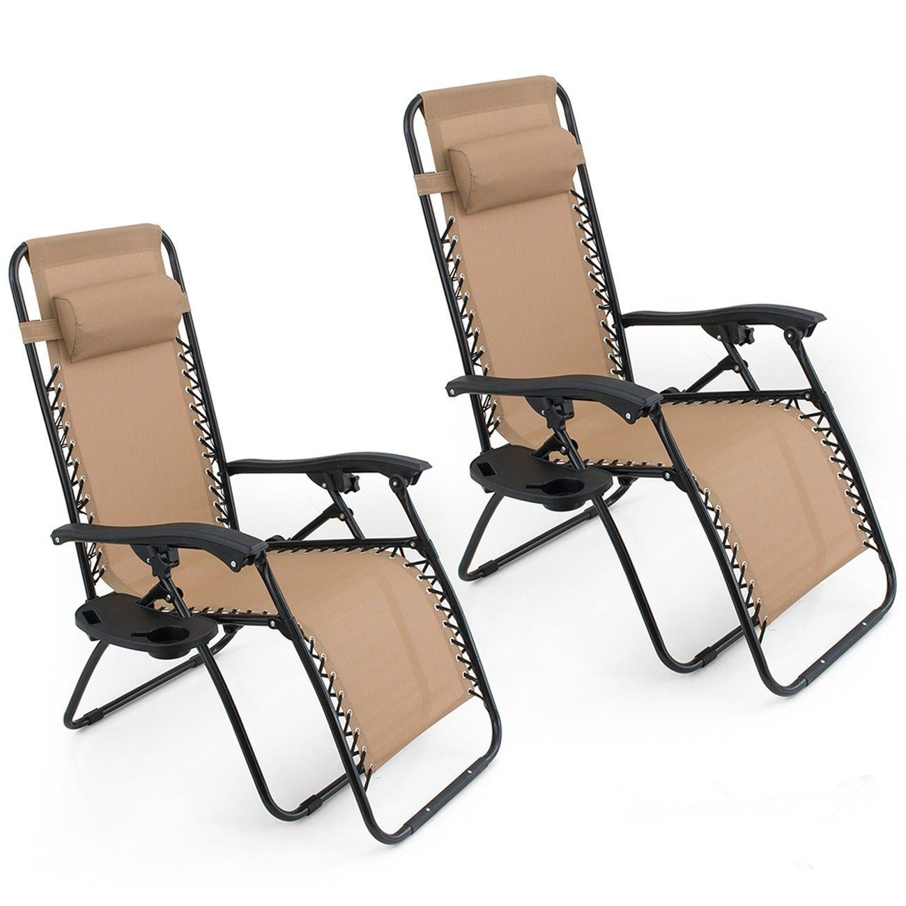 Oshion pair zero gravity chairs black lounge patio chairs outdoor