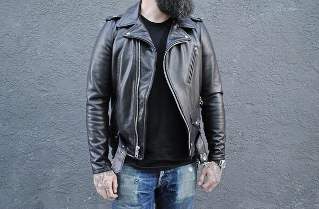 4d8bd27fdc5 Schott Nyc 519 Black Pebbled Cowhide 1950 s Perfecto Motorcycle Jacket Size  S  567 - Grailed