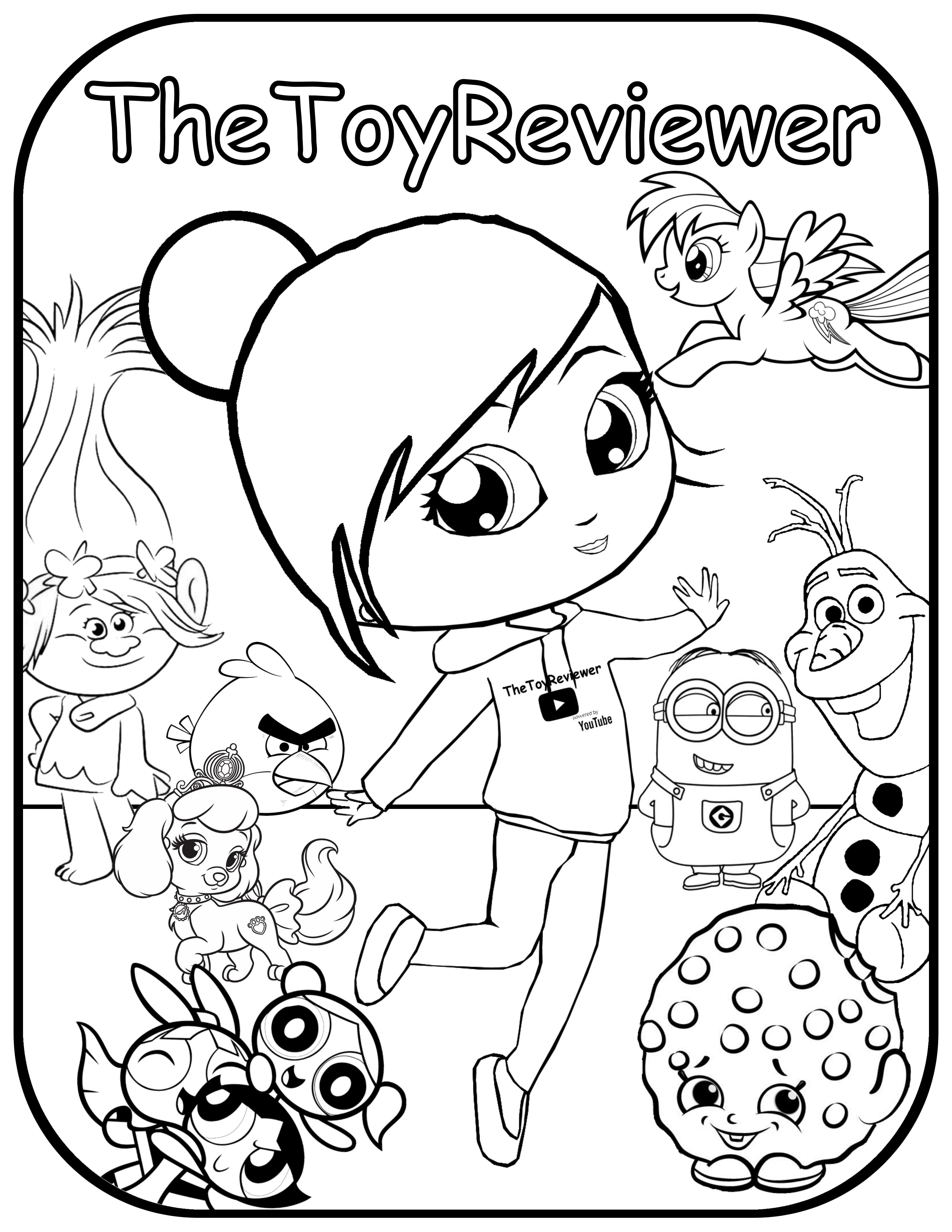 Want Your Very Own TheToyReviewer Coloring Book Page Just Click