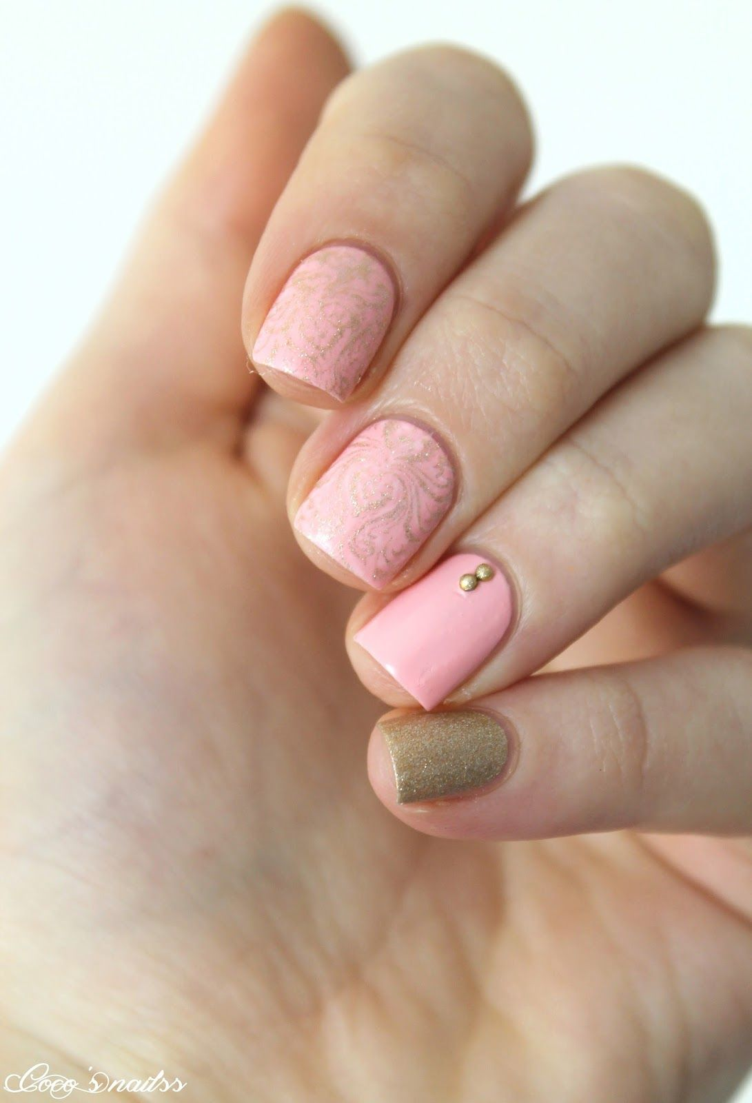 girly nail art #cocosnailss #nails #skittlette #pink