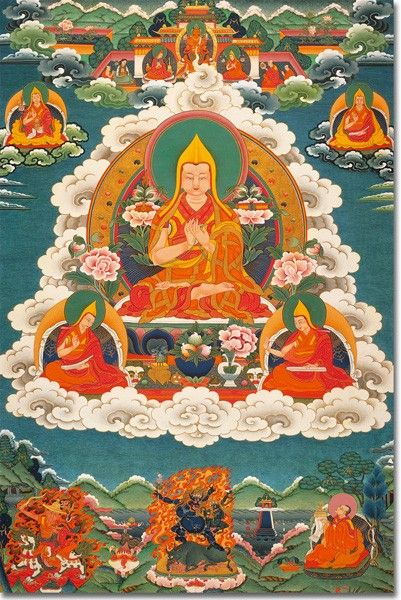 Yhe Tsongkhapa 2 (con los Protectores) – lámina mediana A3 - Arte