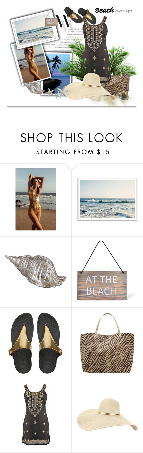 """Beach coverups"" by dee-dee-01 ❤ liked on Polyvore featuring Balenciaga, Topshop, Garden Trading, FitFlop, M&Co and coverups"