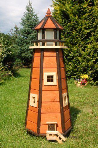 Wunderschöner Großer Leuchtturm Aus Holz Mit SOLAR Beleuchtung LED   Garten  Ideen Gestaltung Garten Deko Garten