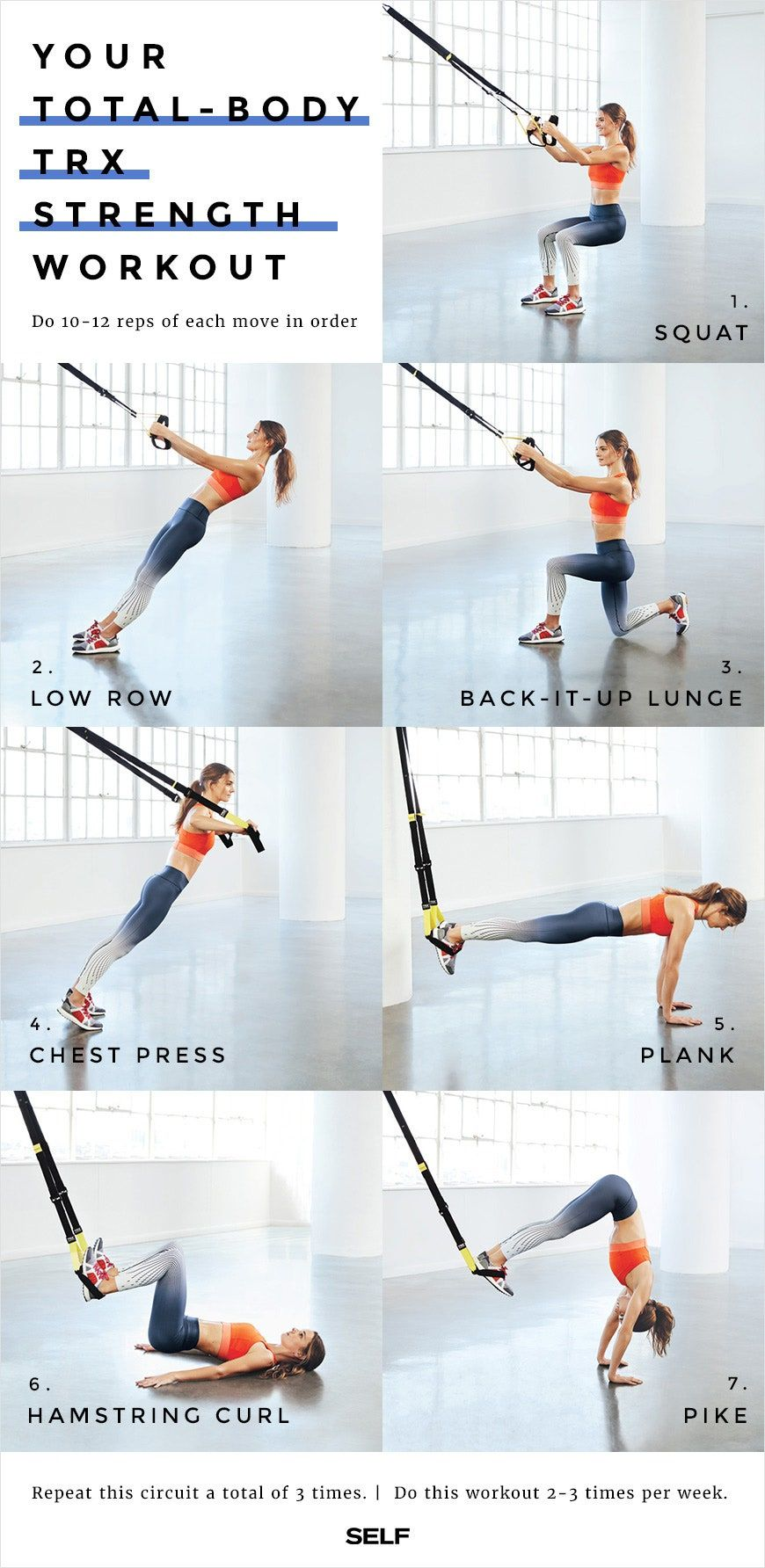 A TotalBody TRX Strength Workout in 2020 Trx workouts