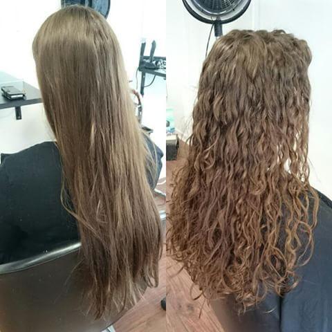 Permanent krøller i langt hår