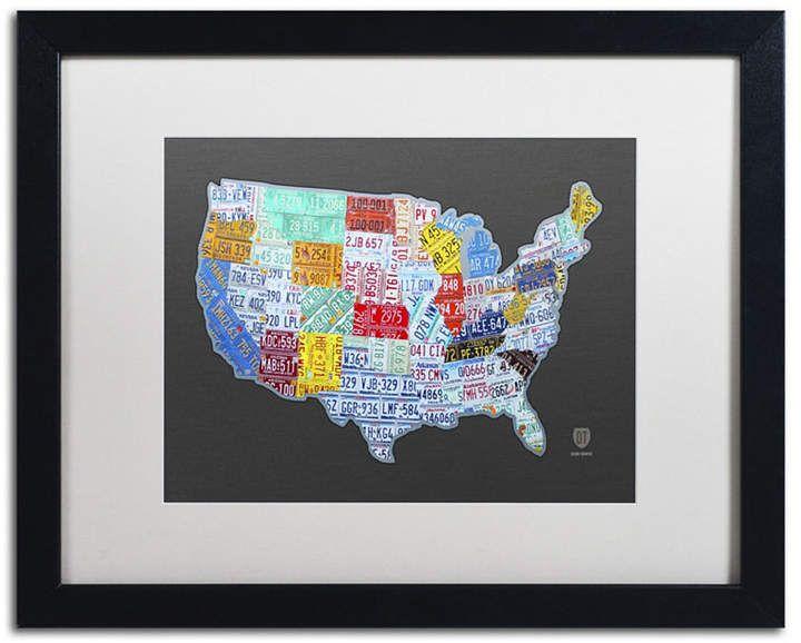 Design Turnpike \'Massive USA License Plate Map\' Matted ...