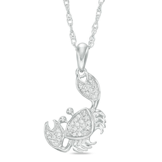 Jewelili Sterling Silver 1//3 cttw Round Black and White Diamond Tilted Heart Pendant Necklace 18 Rolo Chain