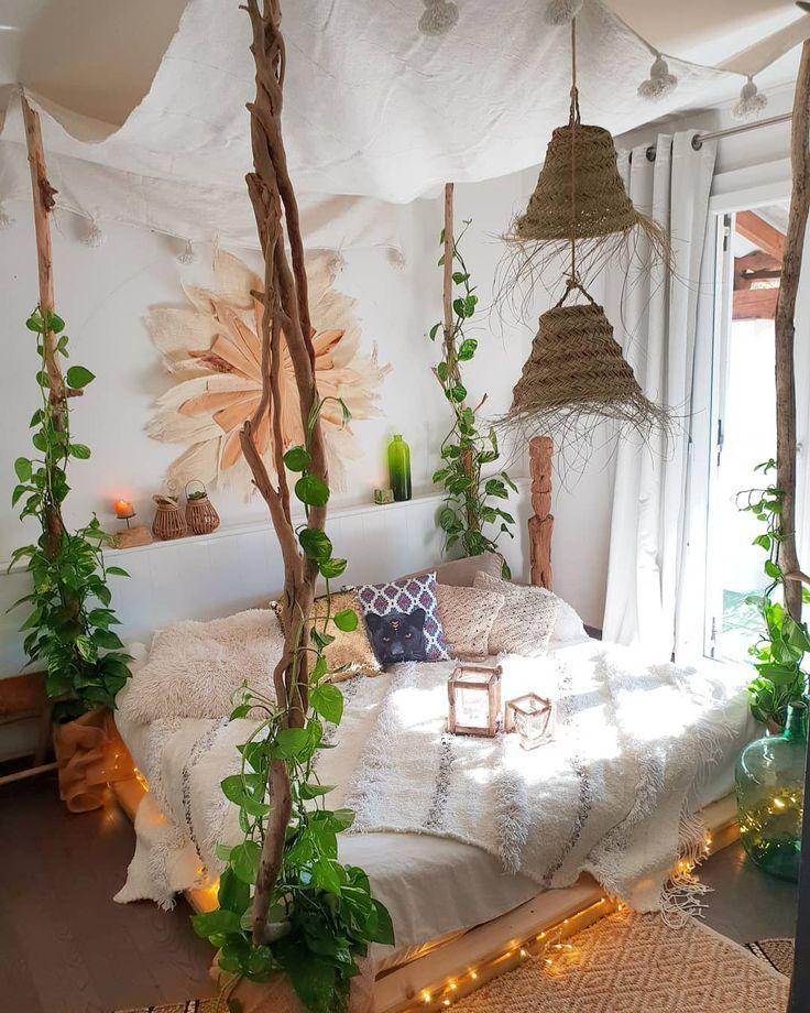 boho bohemiandecor bohobedroom chambre chambreboheme. Black Bedroom Furniture Sets. Home Design Ideas