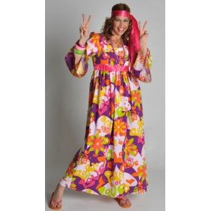 d guisement hippie robe flower of love femme party ann e 70 dresses dresses with sleeves et. Black Bedroom Furniture Sets. Home Design Ideas