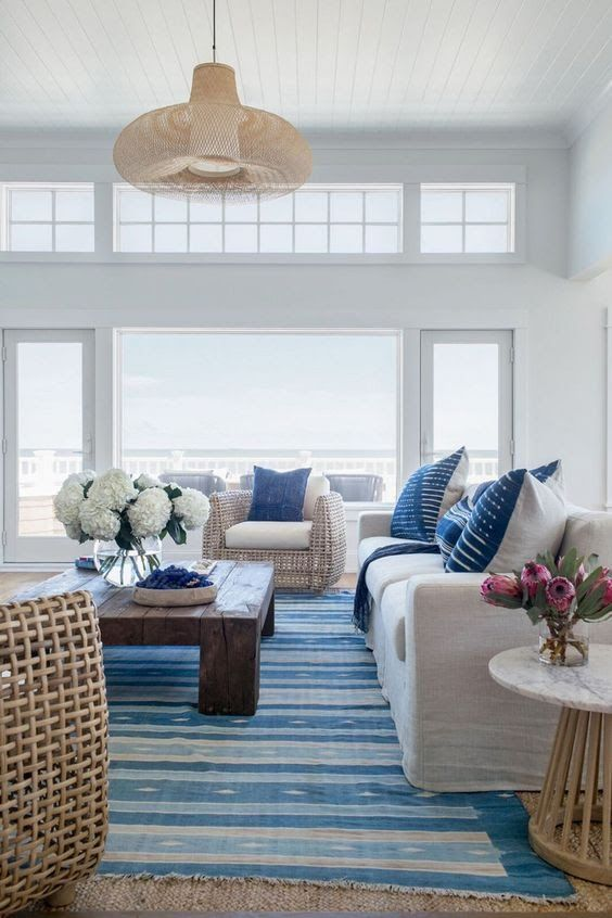 Coastal Living Room With A Modern Mix Of Decor  Modern Coastal Best Coastal Design Living Room 2018