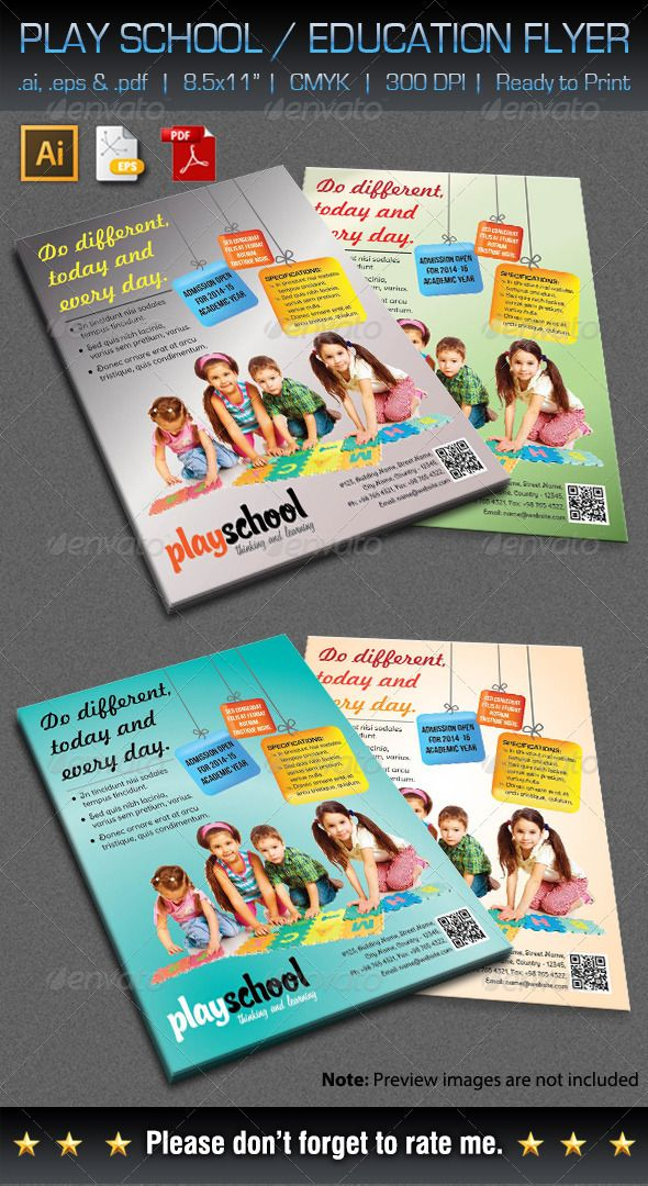 Play School / Education Flyer Print-templates Flyers Corporate