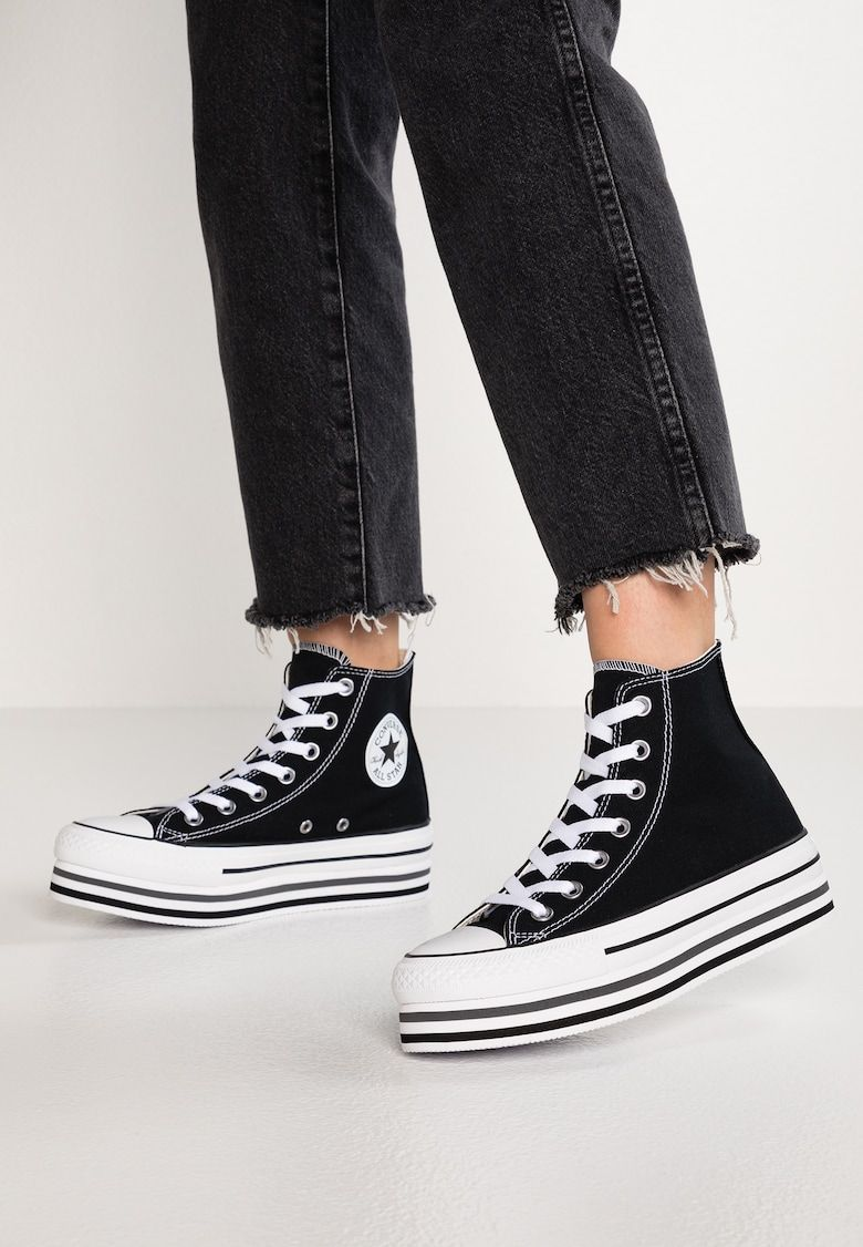 CHUCK TAYLOR ALL STAR PLATFORM - Baskets montantes - black ...