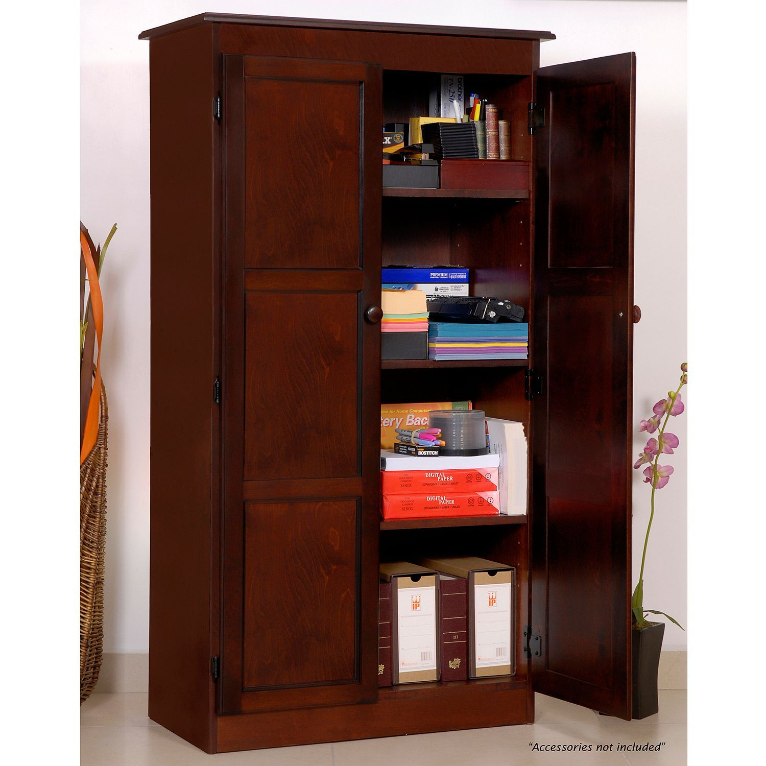 A Joffe 4 Shelf Multi Use Storage Cabinet Select Color Sam S Club Wood Storage Cabinets Office Storage Cabinets Storage Cabinets